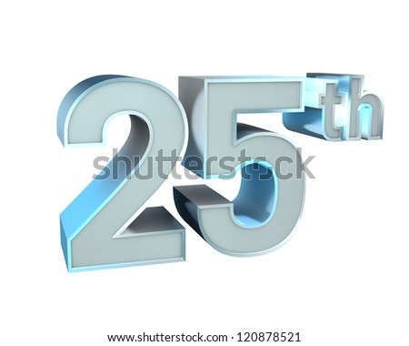 Silver Character Collection. 25th anniversary - stock photo