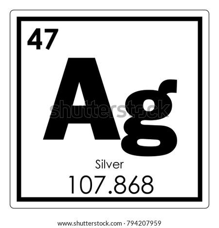 Periodic table element gold stock vector 467700065 shutterstock silver chemical element periodic table science symbol urtaz Choice Image