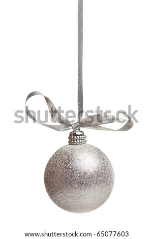 silver chistmas decoration