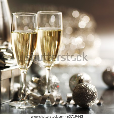 silver christmas - stock photo