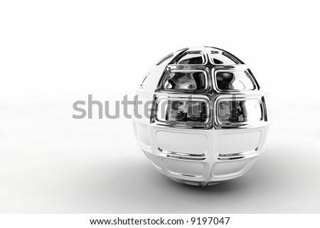 silver chrome ball - stock photo