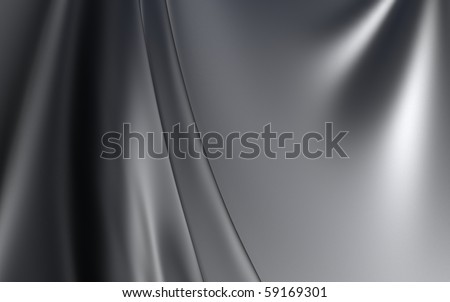 Silver Cloth Background - stock photo
