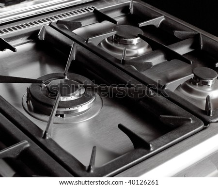 Silver Cooker - stock photo
