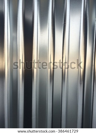 Silver corrugated metal side