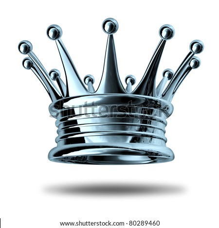 Silver crown stock images royalty free images vectors for Leder symbol