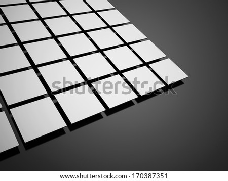 Silver cubes concept on black background