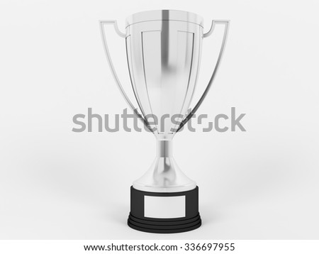 Silver cup for second place - stock photo