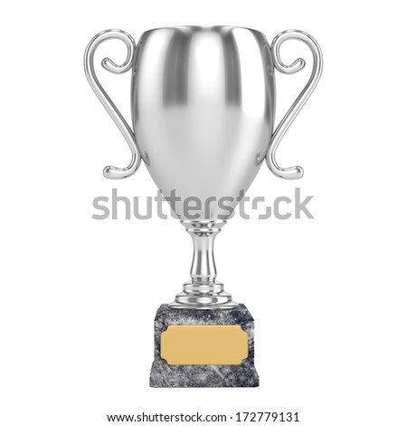 Silver Cup Isolated - stock photo