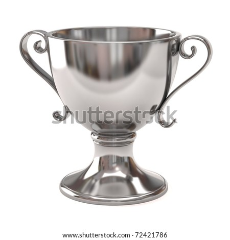 Silver Cup of the winner - stock photo