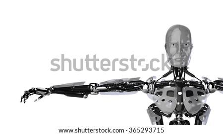 Silver Cyborg - stock photo