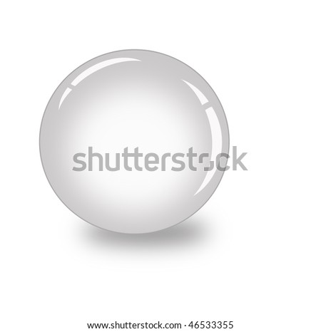 silver 3d ball - stock photo