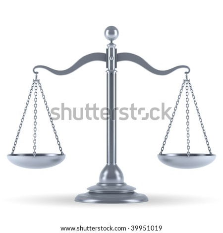 silver 3d scale - stock photo