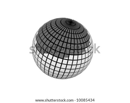 Silver 3D Sphere - stock photo