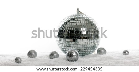 silver decoration - stock photo