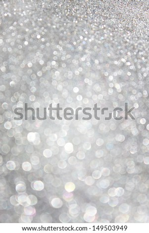silver defocused lights background. abstract bokeh lights - stock photo