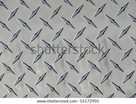 silver diamond pattern plate background