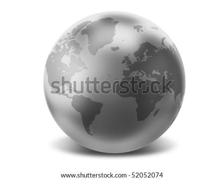 Silver Earth - stock photo