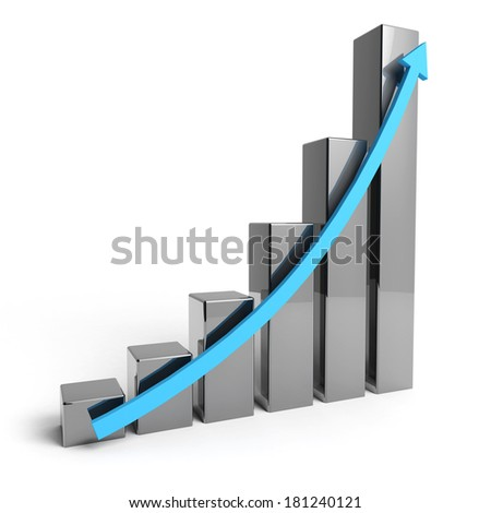 Silver Energy bar with white background - stock photo