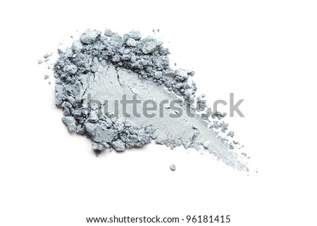 Silver eye shadow - stock photo
