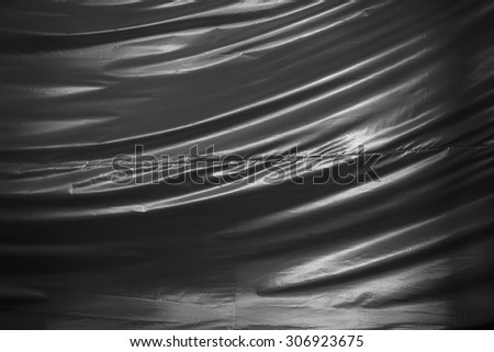 Silver fabric texture background.