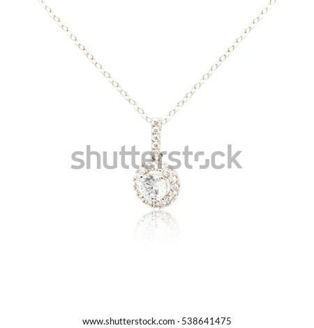 Silver fashion pendant isolated on white background