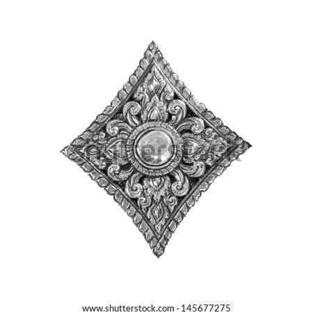 Silver flower art handicrafts of Lanna, Thai style, Chiang Mai, Thailand. - stock photo
