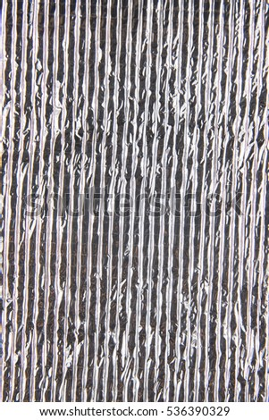 Silver foil insulation material texture background