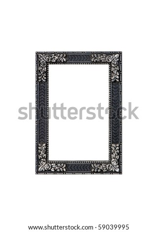 Silver frame isolated - stock photo