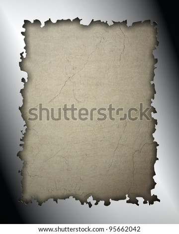 Silver frame isolated on vintage background - stock photo