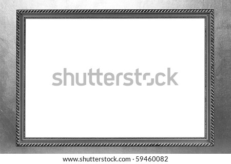 silver frame on silver grey background