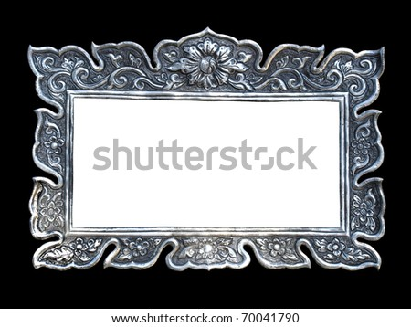 silver frames in a thai temple metal relief work pattern wat muen saen chiang