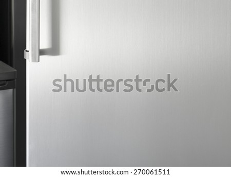 Silver fridge door with handle with free space for text & Fridge Door Stock Images Royalty-Free Images \u0026 Vectors | Shutterstock Pezcame.Com