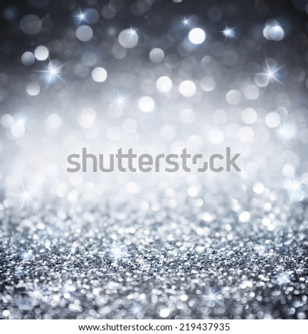 silver glitter - shiny wallpapers for Christmas  - stock photo