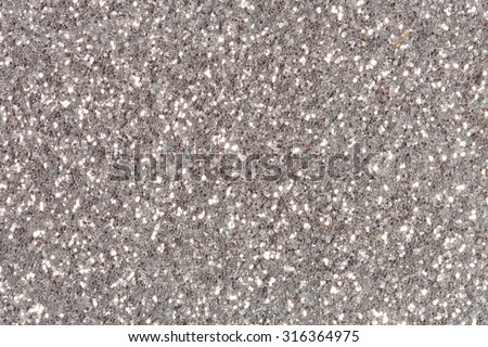 Silver glitter sparkle. Background for your design. - stock photo