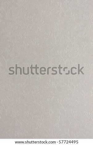 Silver grey paper texture flowers decorated - stock photo