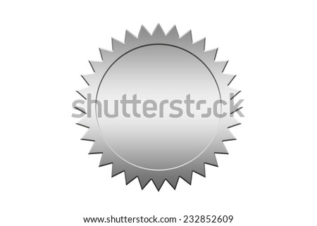 Silver guarantee seal. - stock photo