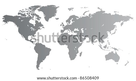 Silver high quality map of the World. Raster version. Vector version is also available. - stock photo