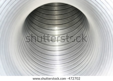 Silver hole - stock photo