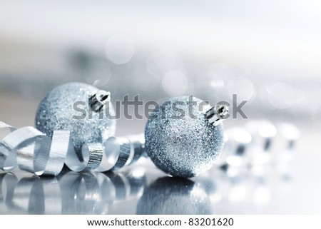 silver holiday balls