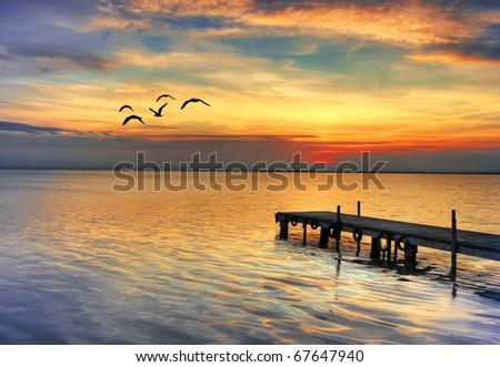 Silver Lake - stock photo