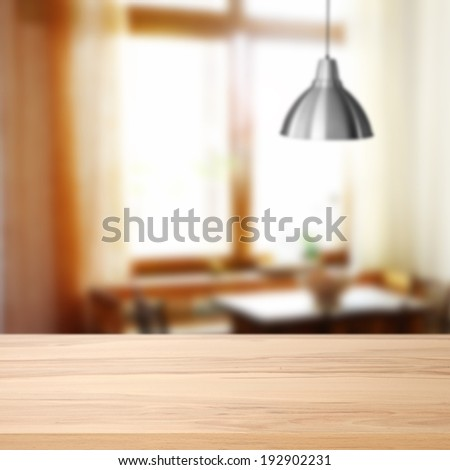 silver lamp and desk  - stock photo