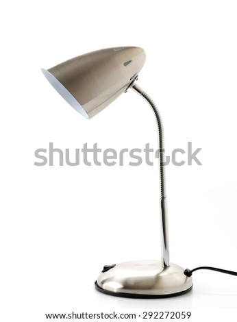 silver lamp on white background