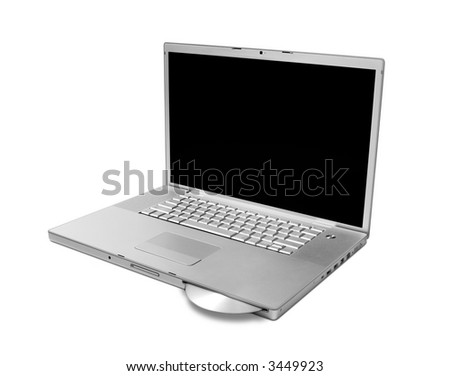 Silver laptop computer