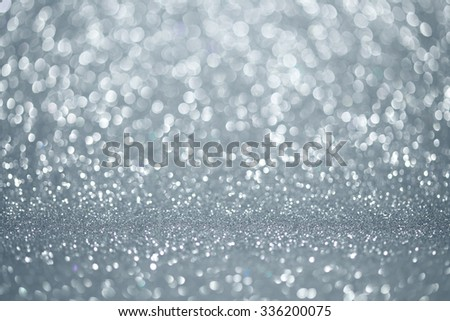 Silver lights background - stock photo