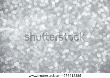 Silver lights bokeh background - stock photo