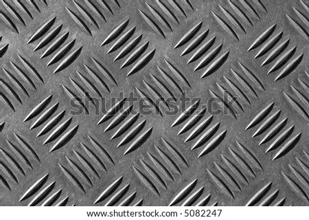 silver metal abstract - stock photo