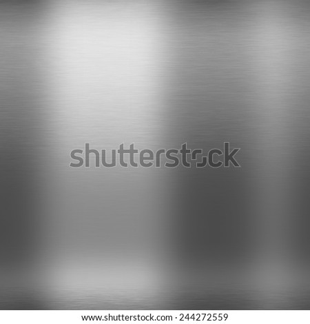 silver metal abstract background brushed chrome texture - stock photo