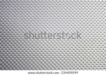 Silver metal gate industrial building, security - stock photo