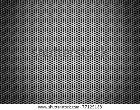 silver metal grate background - stock photo