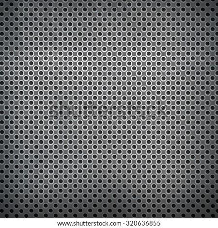 silver metal mesh background - stock photo